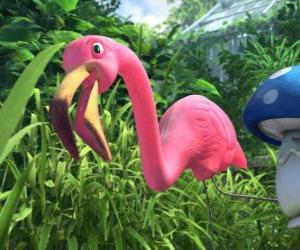 Układanka Faflamingo, samotny flamingo
