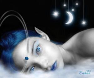 Układanka Fairy niebieskie oczy
