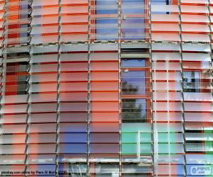 Układanka Fasada Torre Agbar, Barcelona