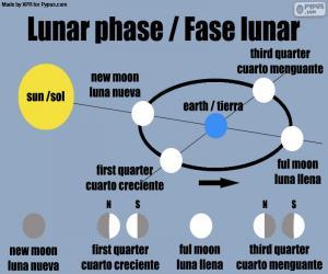 Układanka Faza księżyca