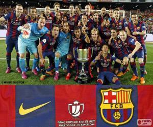 Układanka FC Barcelona Copa del Rey 2014-2015