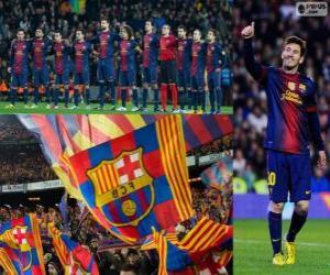 Układanka FC Barcelona, mistrz 2012-2013