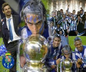 Układanka FC Porto, portugalski Liga 2010-11 świętowania mistrzostwa
