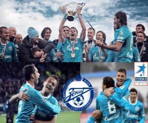 Układanka FC Zenit Sankt Petersburg, mistrz rosyjski Piłka nożna Priemjer-Liga 2011-2012