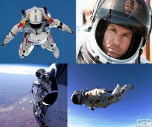 Układanka Feliks Baumgartner skoki stratosfery