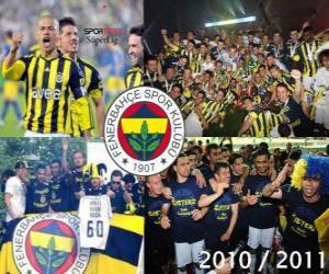 Układanka Fenerbahçe SK, mistrz Turcji w piłce nożnej Super Lig 2010-2011