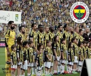 Układanka Fenerbahce, mistrz Super Lig 2013-2014, Turcja Piłka nożna liga