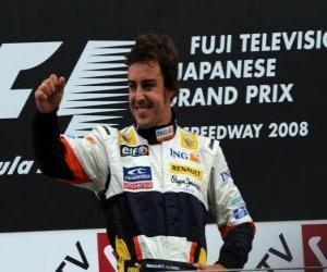 Układanka Fernando Alonso na podium