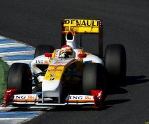 Układanka Fernando Alonso pilotowanie jej F1