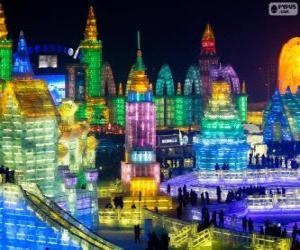 Układanka Festiwal Lodu i Śniegu w Harbinie, Chiny