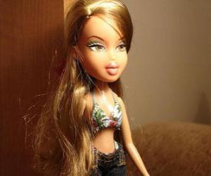 Układanka Fianna jest kochanka dziewczyna z zapachów i mody stylowy i uroczy, ona jest brazylijski