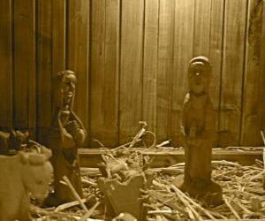 Układanka figurki drewniane łóżeczko Narodzenia i