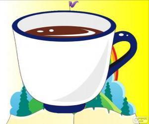 Układanka Filiżanka do herbaty, filiżankę herbaty z Alicja
