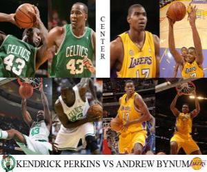 Układanka Finały NBA 2009-10, Środkowy, Kendrick Perkins (Celtics), Andrew Bynum vs (Lakers)