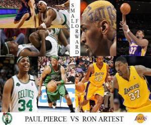 Układanka Finały NBA 2009-10, Niski skrzydłowy, Paul Pierce (Celtics) vs Ron Artest (Lakers)
