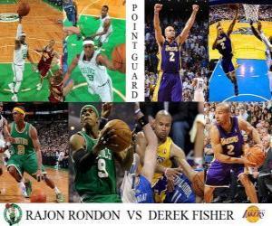 Układanka Finały NBA 2009-10, Rozgrywający, Rondon Rajon (Celtics) vs Derek Fisher (Lakers)