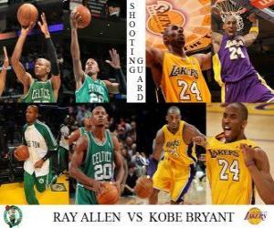 Układanka Finały NBA 2009-10, Rzucający obrońca, Ray Allen (Celtics) vs Kobe Bryant (Lakers)