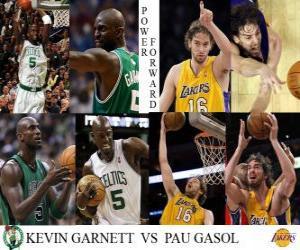 Układanka Finały NBA 2009-10, Silny skrzydłowy, Kevin Garnett (Celtics) vs Pau Gasol (Lakers)
