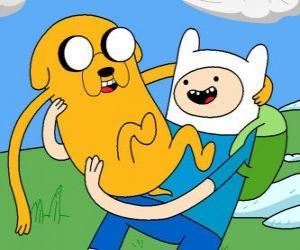 Układanka Finn i Jake, Głównymi głosicielami Pora na przygodę! Adventure Time