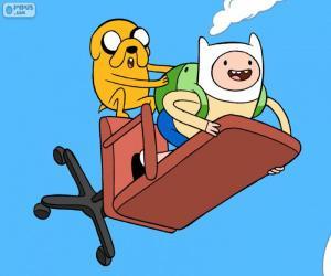 Układanka Finn i Jake latające