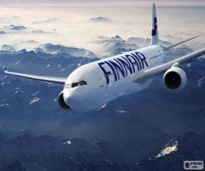 Układanka Finnair linie lotnicze, linie lotnicze w Finlandii