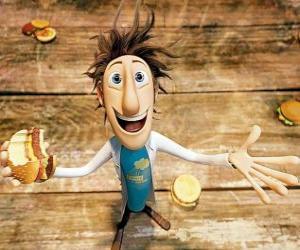 Układanka Fint zjeść hamburgera spada z nieba