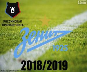 Układanka FK Zenit, mistrz 2018 2019 r.