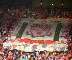 Układanka Flag of Liverpool FC