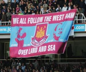 Układanka Flag of West Ham United FC