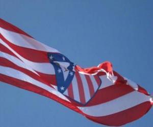 Układanka Flaga Atlético Madryt