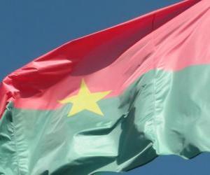 Układanka Flaga Burkina Faso