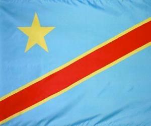 Układanka Flaga Demokratycznej Republiki Konga