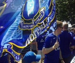 Układanka Flaga Everton FC