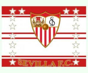 Układanka Flaga FC Sevilla