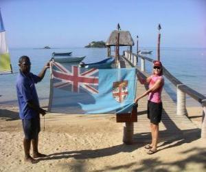 Układanka Flaga Fidżi i Wysp Fidżi
