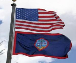Układanka Flaga Guam