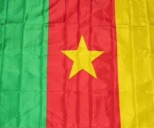 Układanka Flaga Kamerunu