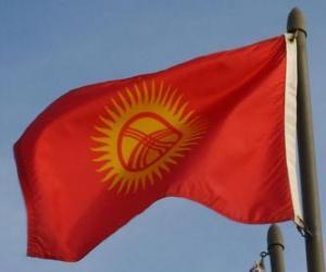 Układanka Flaga Kirgistanu