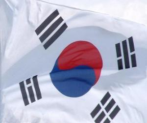 Układanka Flaga Korei Południowej