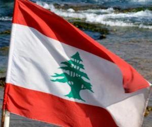 Układanka Flaga Libanu