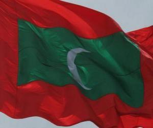 Układanka Flaga Malediwy
