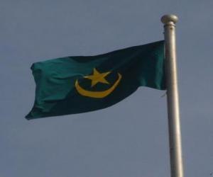 Układanka Flaga Mauretanii