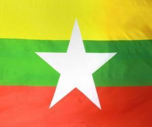 Układanka Flaga Mjanmy