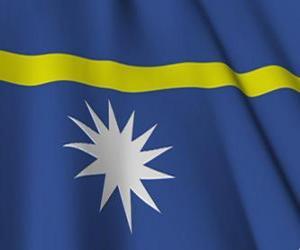 Układanka Flaga Nauru