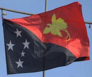 Układanka Flaga Papui-Nowej Gwinei