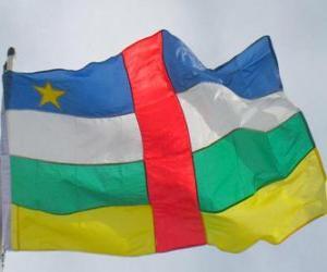Układanka Flaga Republiki Środkowej Afryki