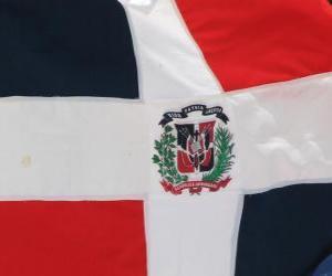 Układanka Flaga Republiki Dominikańskiej