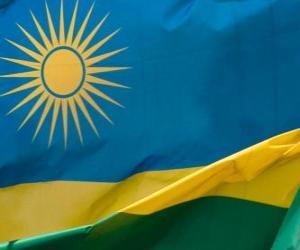 Układanka Flaga Rwandy