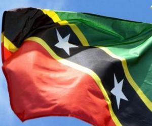 Układanka Flaga Saint Kitts i Nevis