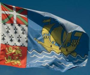 Układanka Flaga Saint Pierre i Miquelon